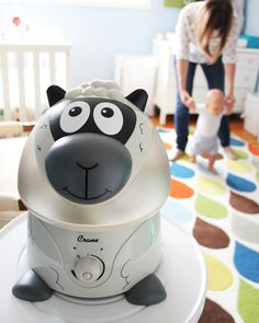 Newborns are obligate nasal breathers. Crane Humidifiers help babies breathe through their tiny noses easier!