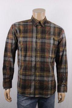 Cabela's Outfitter Series Mens Brown Plaid LS Button Front Shirt sz XL #Cabelas…