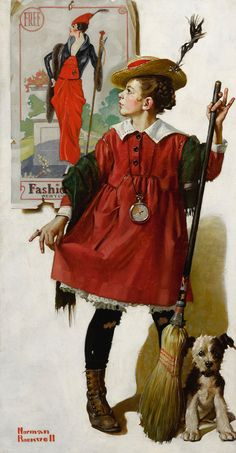 This is my favorite Norman Rockwell art piece. Norman Rockwell: The Little Model Peintures Norman Rockwell, Norman Rockwell Art, Norman Rockwell Paintings, Norman Rockwell Christmas, Pin Up, The Saturdays, Art Vintage, Vintage Pins, Photo Images