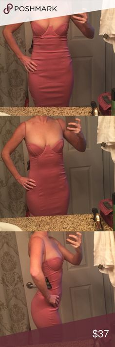 Nastygal Rare London size 2 pink dress nasty gal HOT Rare London dress size 2 sold by Nastygal! Dress has stretch and is approximately 42.5 inches from shoulder to hem. Rare London Dresses Midi
