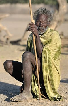 Africa |  Elderly man photographed in Ethiopia by Izidor Gasperlin.