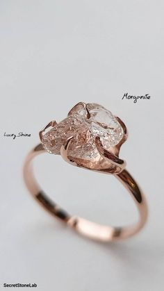 Raw Stone Engagement Rings, Alternative Engagement Rings, Beautiful Engagement Rings, Uncut Diamond Engagement Ring, Non Diamond Wedding Rings, Engagement Rings Without Diamonds, Nontraditional Engagement Rings, Raw Diamond Rings, Raw Gemstone Ring