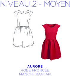 Patron - Aurore dress, dress with raglan sleeves and gathered skirt, pattern to tail . Diy Vetement, Fashion Vocabulary, Creation Couture, Couture Sewing, Gathered Skirt, Mode Inspiration, Beauty Trends, Refashion, Get Dressed