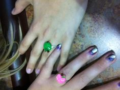 bestie rings with my cousin Emma