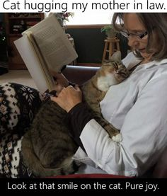 10 Funny Pictures Today! #10 Cut cat hugging mother-in-law.