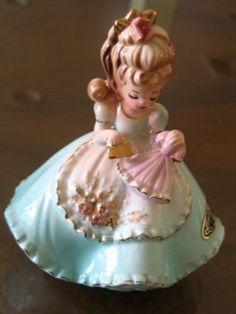 Charming Vintage Josef Originals Girl Ironing