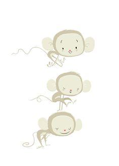 Little cute monkey
