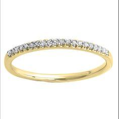 Elora 14K Gold 1/6ct TDW Round Diamond Wedding Band (I-J, I2-I3) (Size 6, Yellow Gold), Women's, White I-J