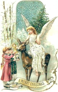 A Victorian Christmas. Old Christmas, Old Fashioned Christmas, Victorian Christmas, Retro Christmas, Vintage Christmas Cards, Vintage Holiday, Christmas Greeting Cards, Christmas Pictures, Christmas Angels