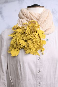 """forest parade ストール extraordinary beautiful embroidered """"fringe"""" on this scarf by mina perhonen"""