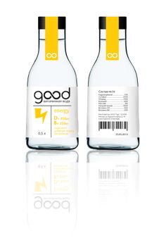 Packaging design for 'Good' vitamin water by Kirill Filonov