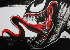 Venom  #inktober #inktober2017 #fanart #venom #marvel #ink #drawing