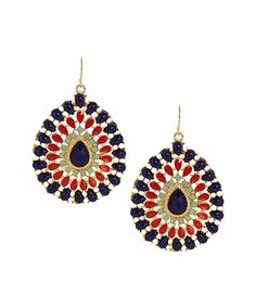 Another great find on #zulily! Gold & Blue Brighter Days Drop Earrings by Olivia Welles Jewelry #zulilyfinds