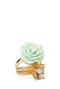 Glitzy Rose Ring Set | FOREVER21 - 1000062320