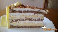 Recept za Tortu s lješnjacima i bijelom čokoladom. Za spremanje poslastice neophodno je pripremiti belanca, šećer, lešnik, brašno, prašak za pecivo, gustin, margarin, belu čokoladu, slatku pavlaku.