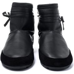 Isabel Marant Black Minsi Ankle Boot ($500) ❤ liked on Polyvore featuring shoes, boots, ankle booties, black leather ankle booties, black leather bootie, short boots, black ankle booties and ankle boots