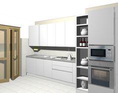Cucina lineare bianca Veneta Cucine