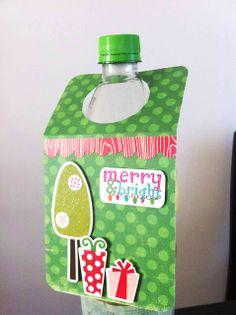 Tutorial: Etiqueta Navideña para Botellas por Johana
