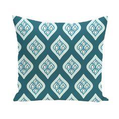 E by Design Abstract Lattice Geometric 20-inch Decorative Pillow