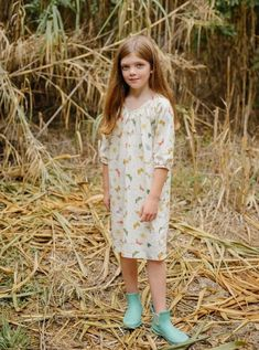 Shop Small! Matching Butterfly Nightgowns- 100% Cotton for girl's and toddlers - La Paloma