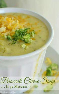 Brocoli cheese soup