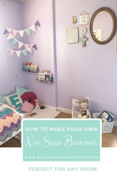 Easy No Sew Banner