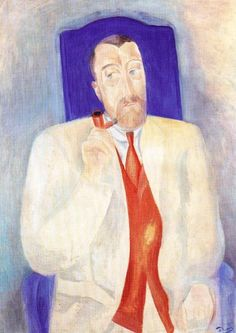 'porträt von einem mann', öl auf leinwand von André Derain (1880-1954, France)