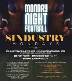 TONIGHT... It's Sindustry Mondays at an all new location join us each and every Monday at @legendsdetroit w/ Me @djgodfatherdetroit @djdonmecca @dj_chrome @dj.dano @djcueworldwide @djtrblmakr  On the wheel of steel... DM/TEXT ME FOR GUST LIST... #dj #djs #djgear #michigan #music #detroit #setup #club #djlife #rane #serato #scratchlive #scratch #live #turntables #turntablism #turntablist #edm #soundguy #sound #sounds #fresh #kold #inksternative #conglomeratedjs #djscarface by dj_scarface…