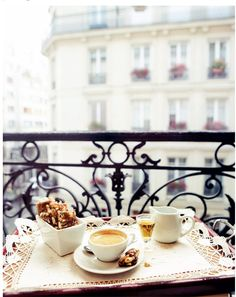 Coffee on a Parisian balcony. Coffee on a Parisian balcony. Coffee Break, Morning Coffee, Drink Coffee, Coffee Coffee, French Coffee, Coffee Mornings, Coffee Music, Coffee Talk, Coffee Dessert