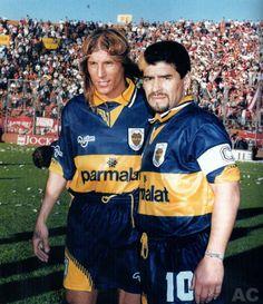 Claudio Caniggia, Diego Armando Maradona.