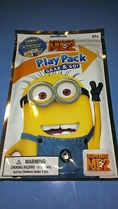 Despicable Me 2 Play Pack Coloring Book Stickers and Crayons Party Favor Pack