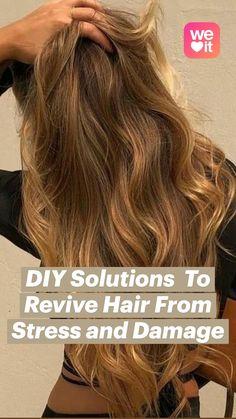 Natural Hair Care Tips, Natural Beauty Tips, Natural Hair Styles, Long Hair Styles, Diy Hairstyles, Pretty Hairstyles, Hair Tips Video, Diy Hair Treatment, Diy Hair Mask