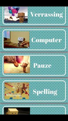 Dagritmekaarten van Danbo Danbo, Spelling, Classroom, Scrabble, Teacher Stuff, September, 3d, Tools, Flower