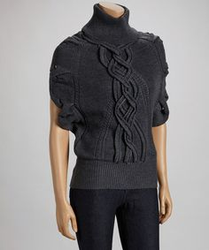 Loving this Gray Cable-Knit Wool-Cashmere Blend Turtleneck on #zulily! #zulilyfinds