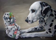 "We had two wonderful Dalmatians in our family...  ""LIttle Friend with Bells On"" by Anne Zoutsos"
