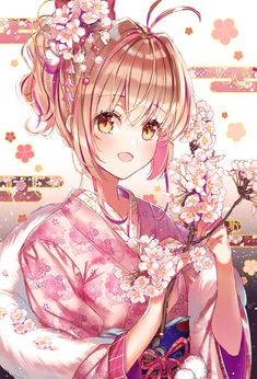 New year to everyone Cardcaptor Sakura Anime Girl Kimono, Manga Anime Girl, Anime Chibi, Anime Art, Anime Girls, Dark Anime Girl, Card Captor, Anime Princess, Anime Japan