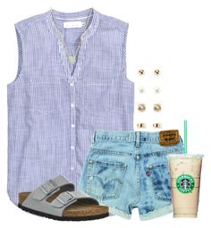 """""""Spring outfit!"""" by flroasburn on Polyvore featuring H&M, Birkenstock, Forever 21 and Cole Haan"""