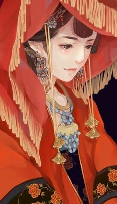 Ảnh đẹp - nữ cổ trang - Wattpad Female Character Inspiration, Character Art, Character Design, Fashion Illustration Vintage, Antique Illustration, Chinese Background, Chinese Bride, Chinese Patterns, Chinese Design