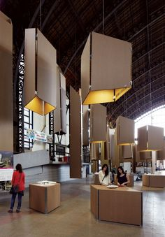 Montaje XVIII Bienal de Arquitectura por Cristóbal Palma