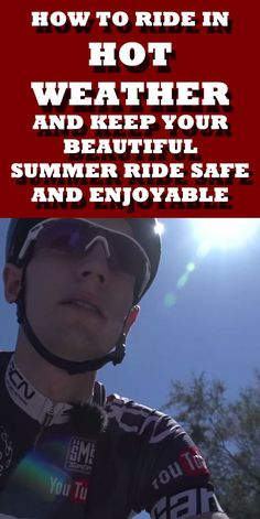 Riding and sunshine go hand in hand. But it can become a nightmare if you aren't careful. Here are our tips for dealing with hot weather on the bike... #cycling #bike #bicycle #heat #summer