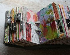 Vintage rolodex scrapodex collage journal (6)