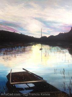 Artwork >> Francis Ketele >> Twilight on the pond