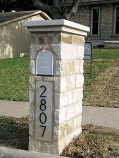 Craftsman Style Mailbox Post Entryway Pinterest