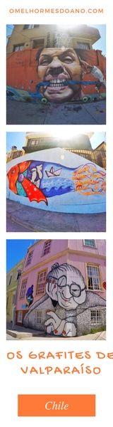 Valparaíso, ou Valpo, fica pertinho de Santiago e merece muito mais do que um bate e volta. Os grafites, que são presença constante por toda a cidade, dão a graça e o charme ao porto mais movimentado do Chile Machu Picchu, Chile, Disneyland, We Are The World, Bolivia, Urban Art, Ecuador, Places To Visit, Travel Tips