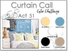 Stacey's Stamping Stage: Curtain Call Color Challenge: {ACT 51} So Saffron, Marina Mist, Crumb Cake, Black, White