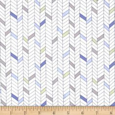 Monterey Broken Chevron Periwinkle Blue from @fabricdotcom  Designed by Studio 8 for Quilting Treasures, this cotton print is perfect for quilting, apparel and home decor accents.  Colors include white, light green, shades of grey and shades of blue.