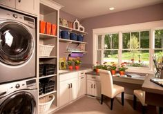 How to Design a Contemporary Combo Room- Laundry, Sewing, Craft, Wrapping, Dog Wash....etc