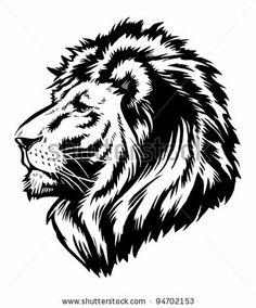 digital lion, possible paint stencil