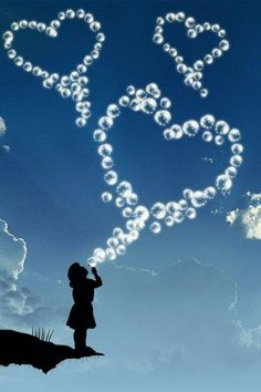 Yoy will never regret time spent blowing bubbles. I Love Heart, Happy Heart, Cellphone Wallpaper, Mobile Wallpaper, Heart Bubbles, Birthday In Heaven, Heart Images, Heart Pics, Blowing Bubbles