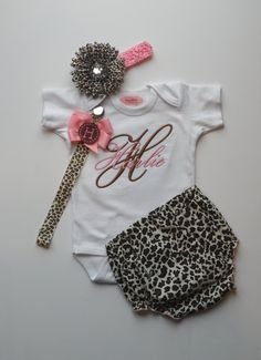 Girl Onesie Embroidered Baby Girl Clothes  with by LilMamas, $16.00